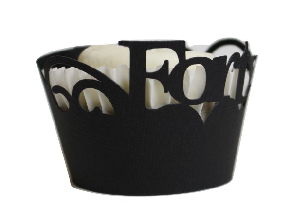 Black Forty Cupcake Wrappers