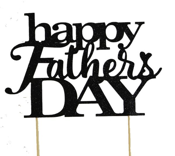 Black Happy Father's Day Cake Topper