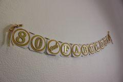 Gold 80 & Fabulous Banner