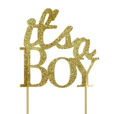 Gold It's a Boy Cake Topper