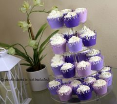 Purple Ombre Congratulations Cupcake Wrappers Kit