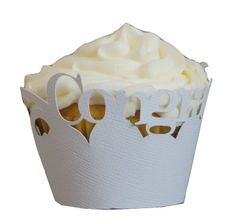 White Congratulations Cupcake Wrappers