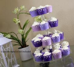 Purple Ombre Quinceanera Cupcake Wrappers Kit