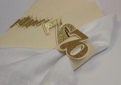 Gold 70 Napkin Holders, 12pcs