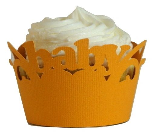 Orange Baby Cupcake Wrappers