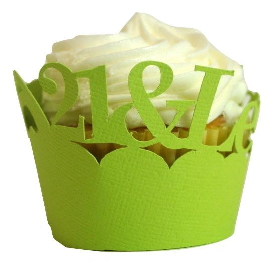 Lime Green 21 & Legalized Cupcake Wrappers