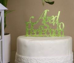 Lime Green Aged to Perfection Cake Topper