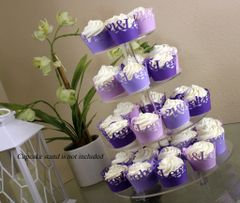 Purple Ombre 21 & Legal Cupcake Wrappers Kit