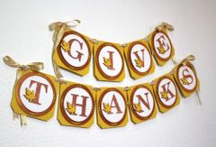 Copper Fall Theme Give Thanks Banner, 1set