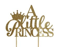 Gold A Little Princess Cake Topper