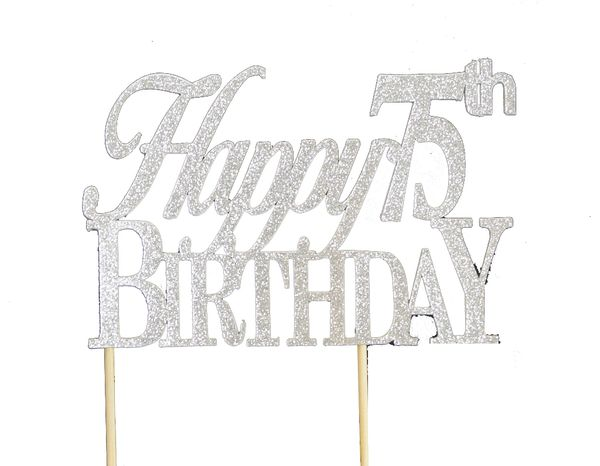 Happy 75th Birthday Cake Topper