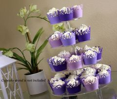 Purple Ombre Mr & Mrs Cupcake Wrappers Kit