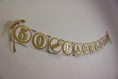 Gold 50 & Fabulous Banner
