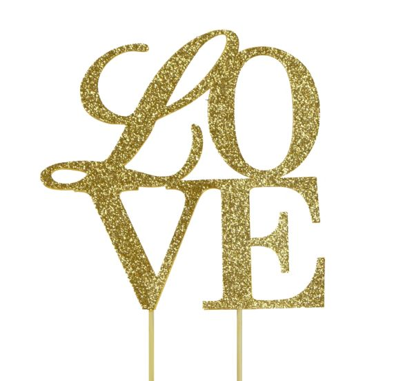 Gold Love Cake Topper