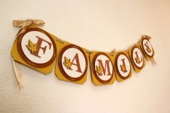 Copper Fall Theme Family Banner, 1 set