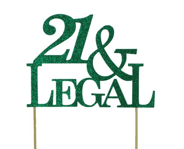 Green 21 & Legal Cake Topper