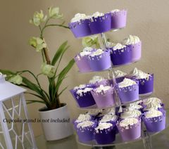Purple Ombre Happy Birthday Cupcake Wrappers Kit