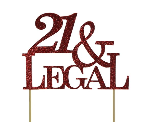 Red 21 & Legal Cake Topper
