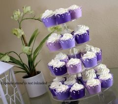 Purple Ombre One Cupcake Wrappers Kit