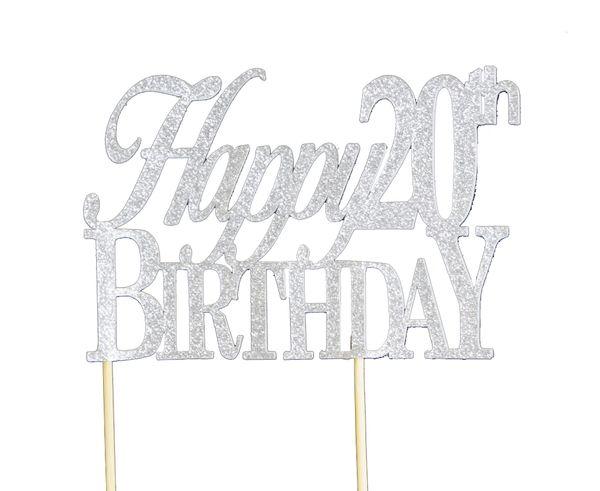 Happy 20th Birthday Cake Topper