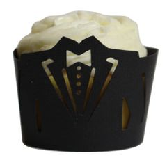 Black Tuxedo Cupcake Wrappers