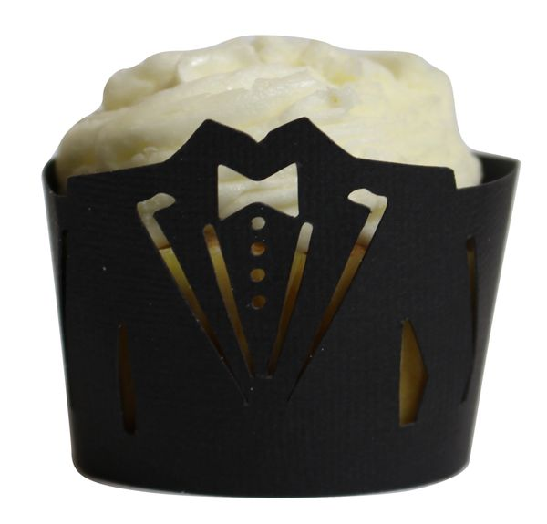 Black Tuxedo Cupcake Wrappers