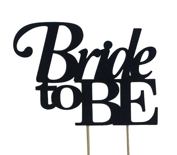 Black Bride to be Cake Topper