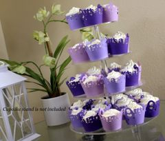 Purple Ombre It's A Girl Cupcake Wrappers Kit