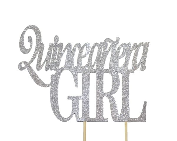 Silver Quinceanera Girl Cake Topper