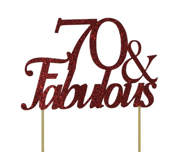 Red 70 & Fabulous Cake Topper