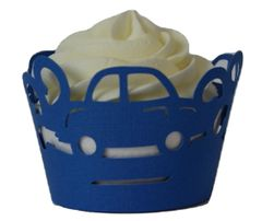 Blue Cars Cupcake Wrappers