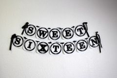 Black Sweet Sixteen Banner