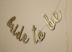 Black & Gold Bride To Be Cursive Banner
