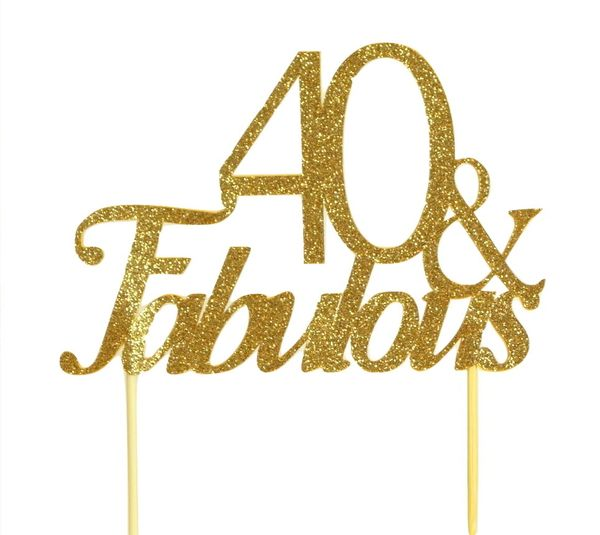Gold 40 & Fabulous Cake Topper