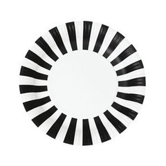 Stripes Paper Plates Black Tie 12pc