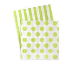 Dots & Stripes Napkins Apple Green 20PC