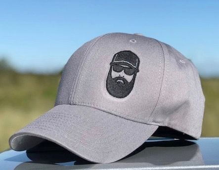 "Gray Flex-Fit fitted cap with OEA ""Not an Operator"" logo"
