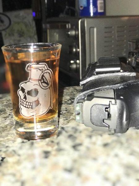 OEA Logo shot glass