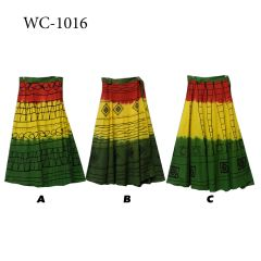 RASTA WRAP SKIRT