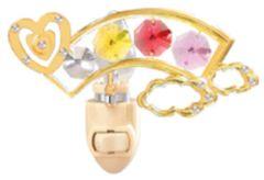 Heart/ Rainbow Night Light w/Swarovski Element Crystal