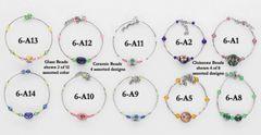 Cloissone/Ceramic/Glass Bead Bracelet Assortment - Only $14.95 per dozen