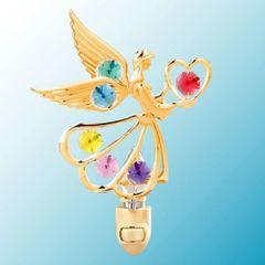 Angel w/ Heart Night Light w/Swarovski Element Crystal