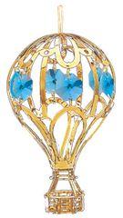 Gold Plated Hot Air Balloon Ornament w/Swarovski Element Crystal