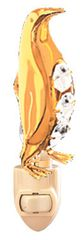 Gold Plated Penguin Night Light w/Swarovski Element Crystal