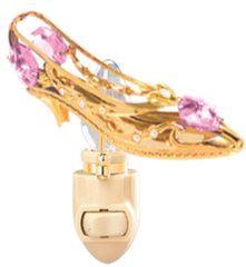 Gold Plated Shoe/Heart Night Light w/Swarovski Element Crystal