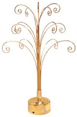 "Gold Finish Ornaments Rotating Display Tree (18""H)"
