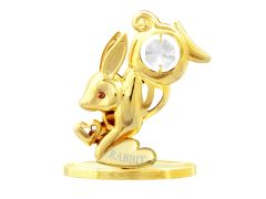 Gold Plated Chinese Zodiac - Rabbit w/Swarovski Element Crystal
