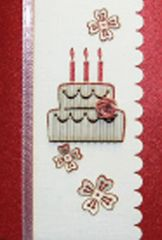 Birthday Cake Quilled Small Paper Cards (Set of 4) with envelopes
