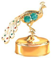 Peacock Music Box w/ Swarovski Element Crystal