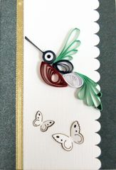 Hummingbird Quilled Small Paper Cards (Set of 4) with envelopes